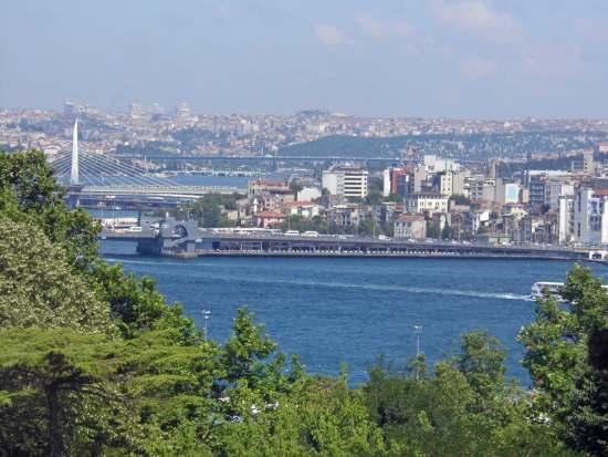 Blick auf Bosporus vom Topkapi Palast, Istanbul