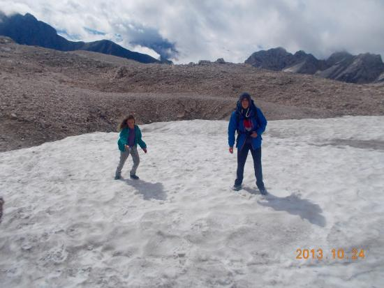 snowfield on Zugspitze