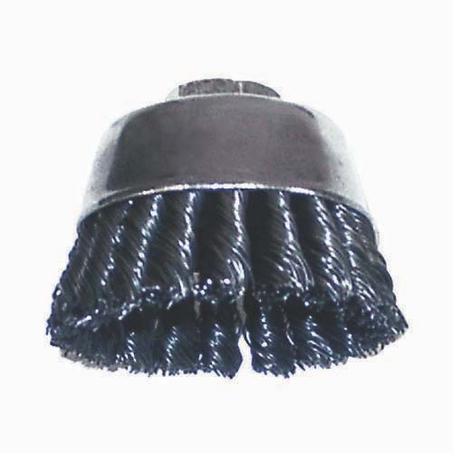 3″ Single Row Knotted Cup Brushes .020 Wire