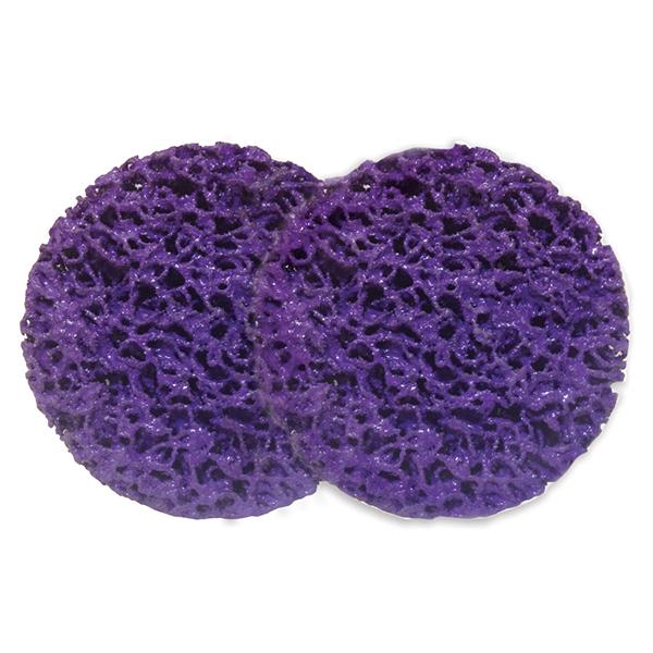 2″ Purple Strip-Brite Pad with Twist-to-lock 2 PK