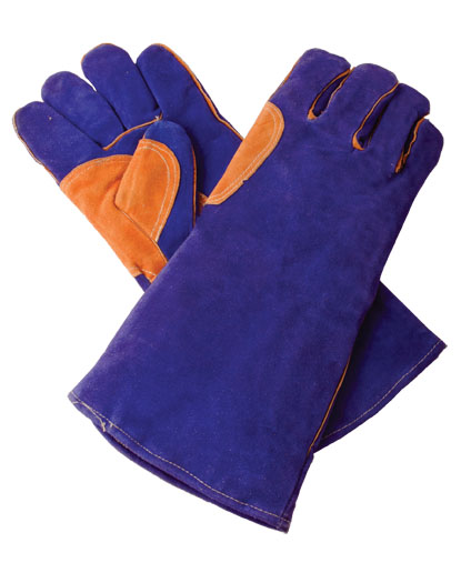 Welding Gloves – Blue Extra Heavy Duty – the Top of the Line. Size Large.