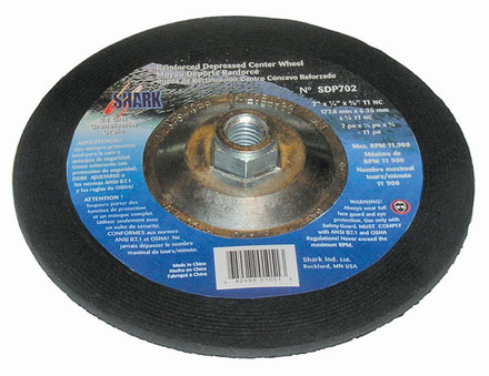 Grinding Wheels Type 27- Zirconia 9″x 1/4″ x 5/8-11NC – 24 Grit. 10 pack.