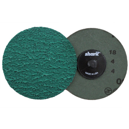 Mini Grinding Discs with Twist-to-Lock Backing – Green Zirconia 3″ 36 Grit. 25 pack.