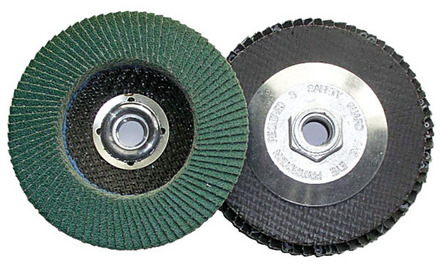 Flap Disc – Type 27 Zirconia 4.5″ x 5/8-11 – 80 Grit. 1 pack.