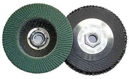 Flap Disc – Type 27 Zirconia 4.5″ x 5/8-11 – 80 Grit. 1 pack.