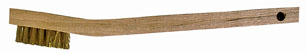 Small Brass Scratch Brush – 7 1/4″ with Wooden Handle.