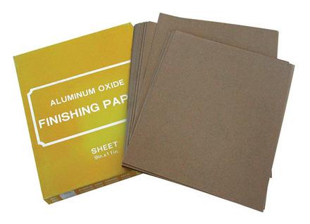 Sand Paper – Aluminum Oxide 9″ x 11″ – 100 Grit 80 pack.