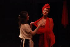 """A modern day adaptation of """"The Maids,"""" produced and adapted by Sharlee Taylor and classmate. Sharlee Taylor pictured here as Madame."""