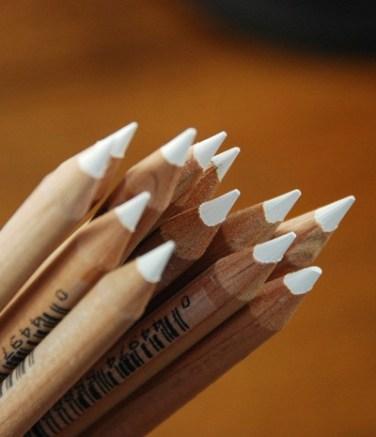 Generals White Charcoal Pencils