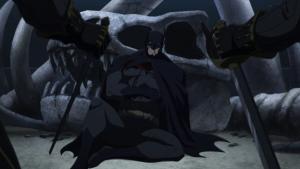 Batman plusieurs fois malmené dans le film