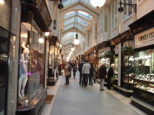 Inside the beautiful Burlington Arcade