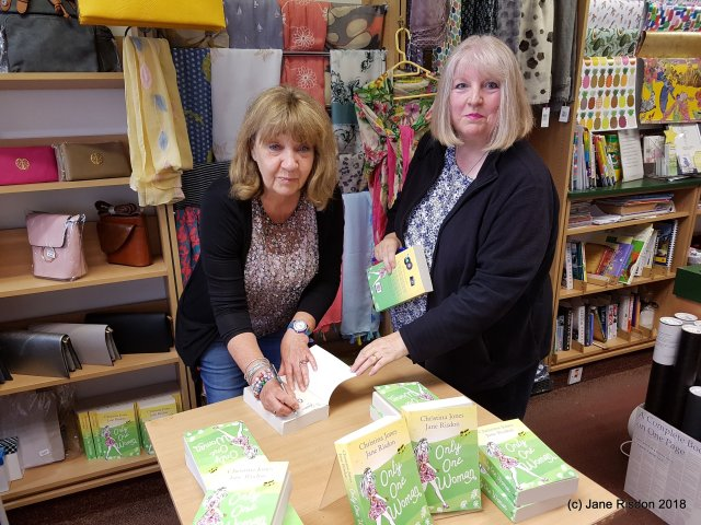 Christina Jones and Jane Risdon, authors of Only One Woman