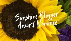The Sunshine Blogger Award nominee