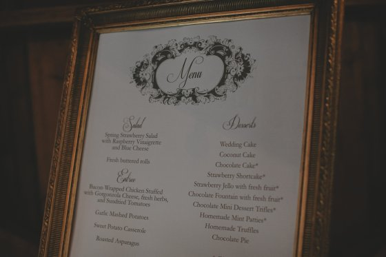 Rachael designed the delicious menu