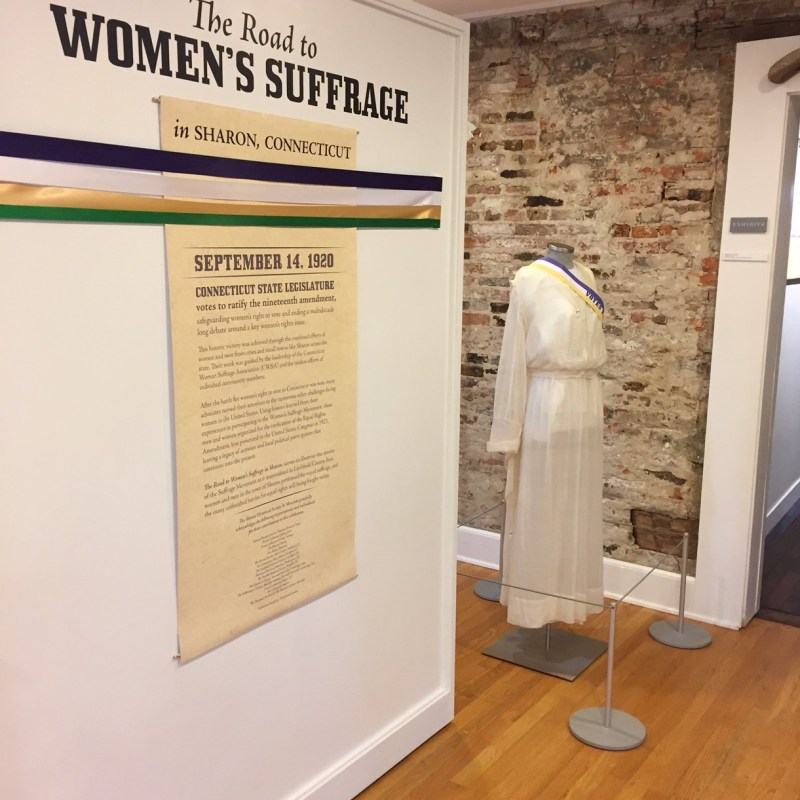 Sharon Historical Society Suffrage Exhibit
