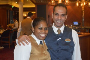 Our amazing servers: Shirlynn and Tyronne