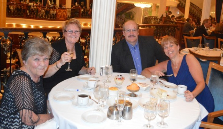 Margaret, Catherine and us at our table aboard Freedom of the Seas