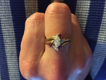 Ring Number Three (which looks a LOT like ring #2 only marquis-cut stones)