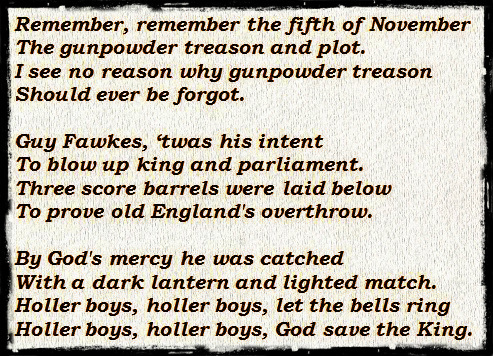 Fawkes rhyme