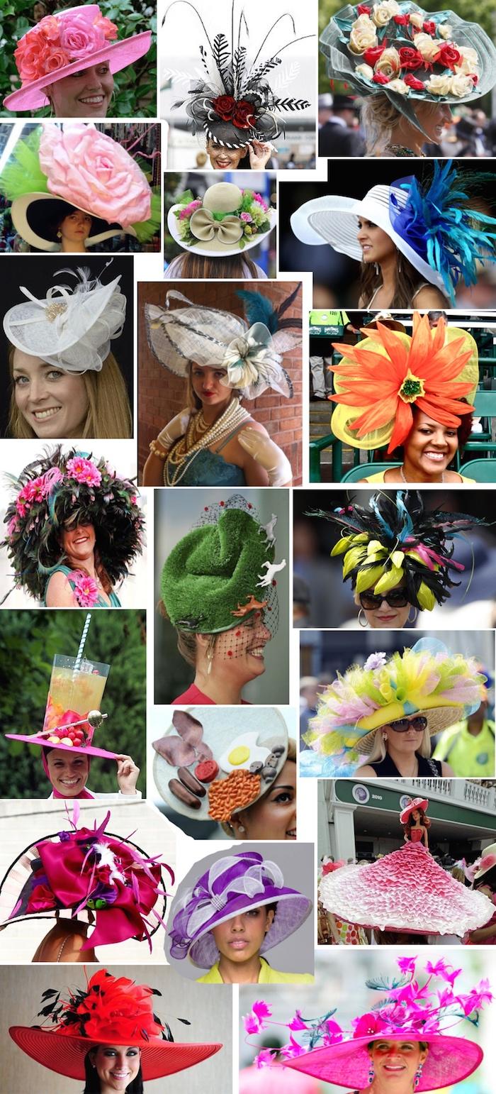 Derby hat collage