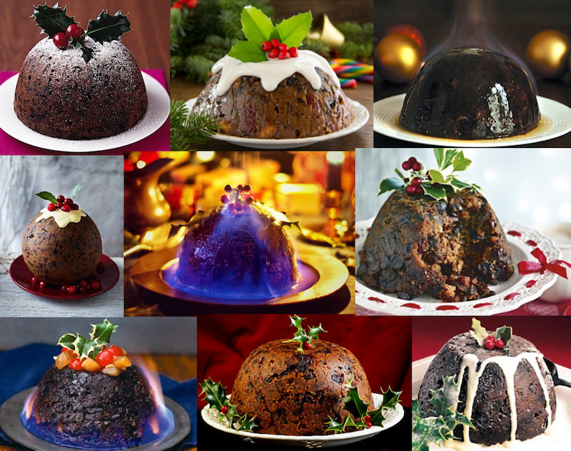 modern pudding collage