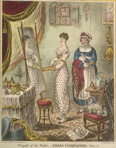 1810 progress of the toilet dress original