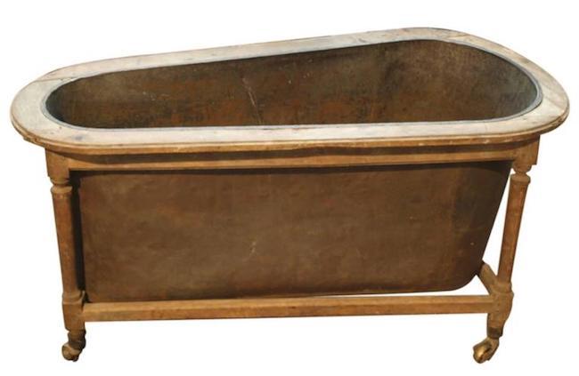 copper bathtub French