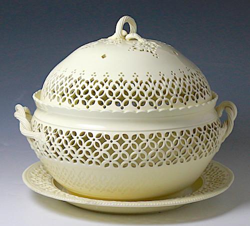 creamware basket