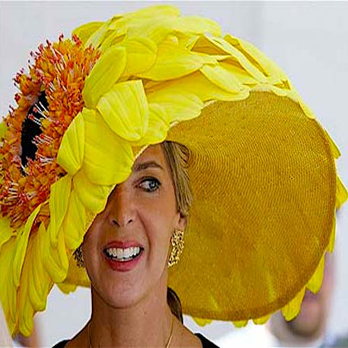 BIG, colorful hats! Derby fashion parade.