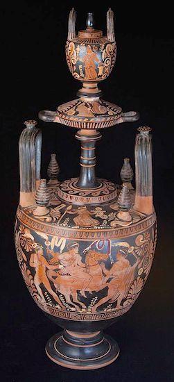 Greek terracotta vessel