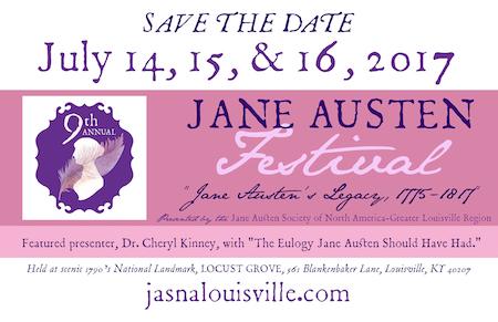 Jane Austen Festival in Louisville, 2017