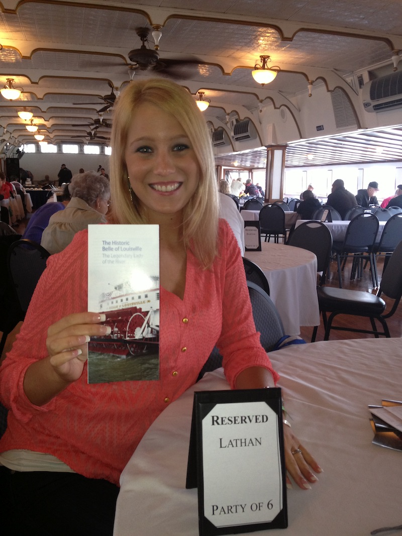 Emily. On board the Belle of Louisville paddleboat.