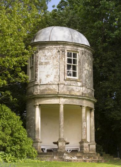 The Oval Pavilion at Farnborough Hall, Warwickshire.