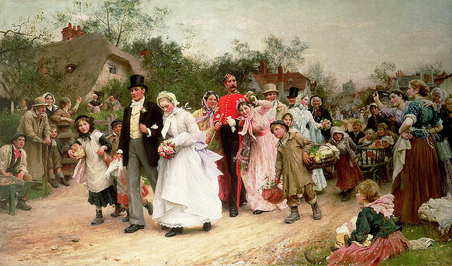 the-village-wedding-sir-samuel-luke-fildes1883