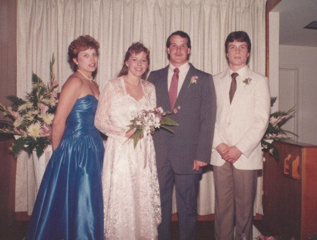 May 27, 1988 - My sister, me, my husband, and his brother