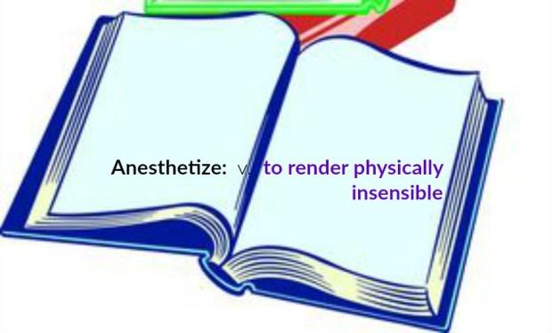 anesthetize_defin