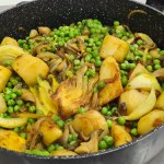תבשיל ירקות ואפונה