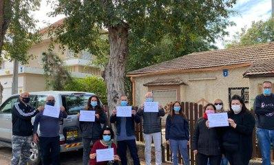 מאבק תושבי רחוב כינרת בהרצליה כנגד כריתת עצים