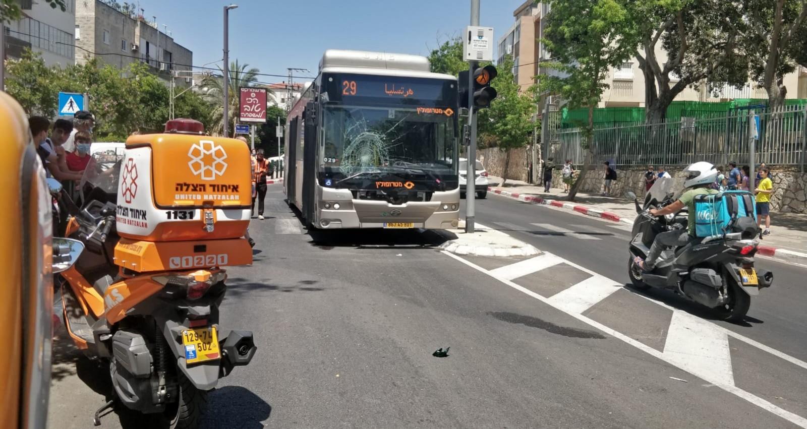 תאונת דרכים רחוב ויצמן הרצליה