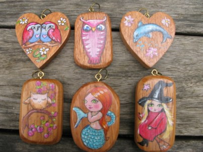 """More examples of these pendants are available in the """"wearable art"""" category."""