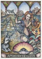 Aphrodite rose from the sea to become the Goddess of love and beauty. She is known for her captivating looks and eternal youth. She was also connected to the process of rebirth among nature and humans.