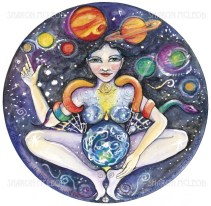 Gaia is the ancient greek goddess of the earth. She was the mother of all, and was said to have given birth to the universe.