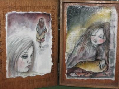 Little Match Girl handpainted cigar box