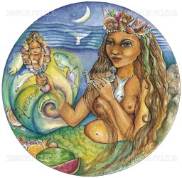 Yemaya is known for being the divine mother of the oceans and seas.