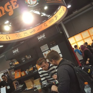 Orange Amplifiers booth signing
