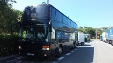 The EODM Tour bus