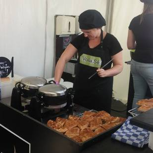 Backstage waffles in Belgium