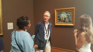 So Cool! we were joined by Getty Center docent, Gorman Bentley and he walked through a tour of some of his favorite works. Thank You Gorman!