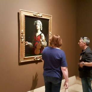 Susan and Steve checking out the Guido Reni
