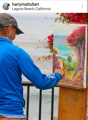 Harry Mattull plein-air painting